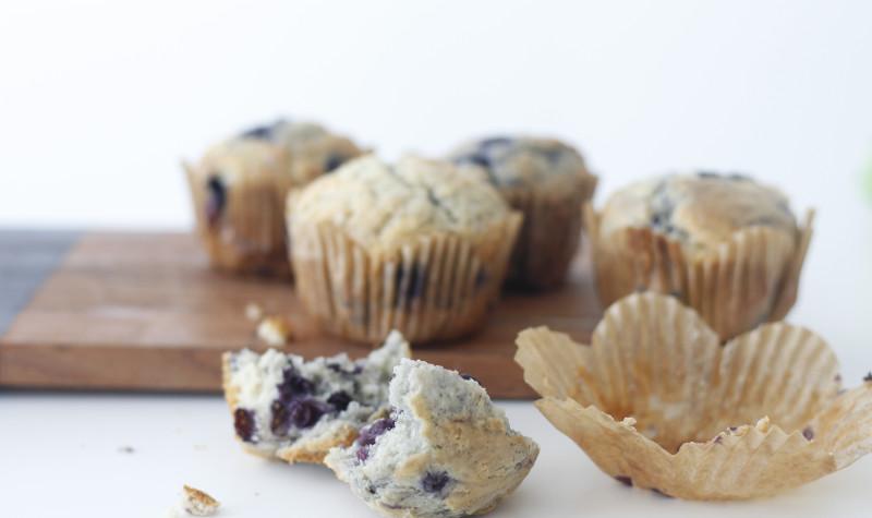 Skinny bláberja muffins