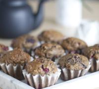Hafra muffins með hindberjum