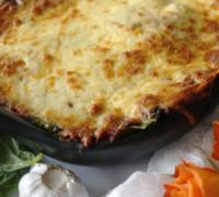 Grænmetis lasagne með sveppum og spínati