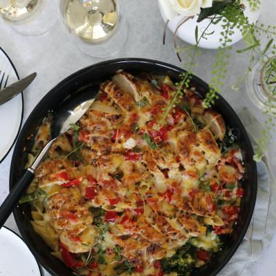 Kjúklinga alfredo pasta