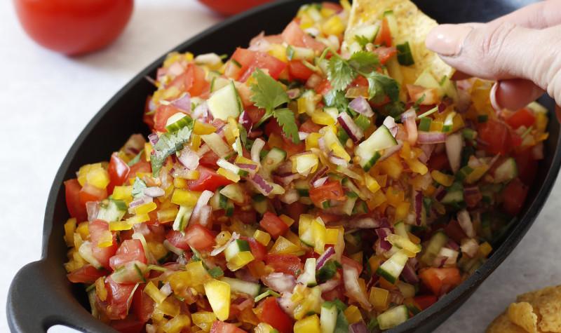 brakandi og bragðgott ferskt salsa
