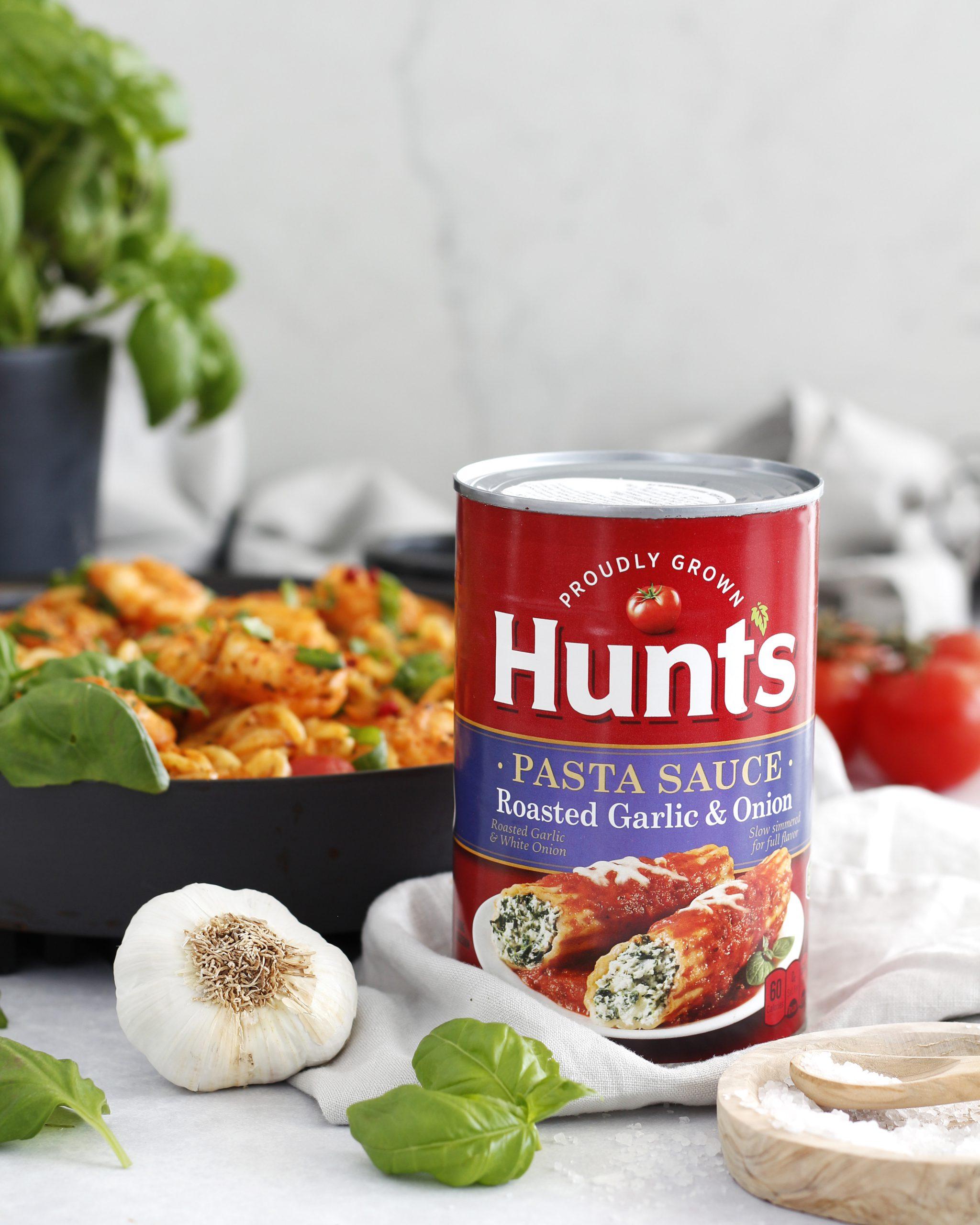 Risarækju pasta í spicy hvítlauks tómatsósu á korteri