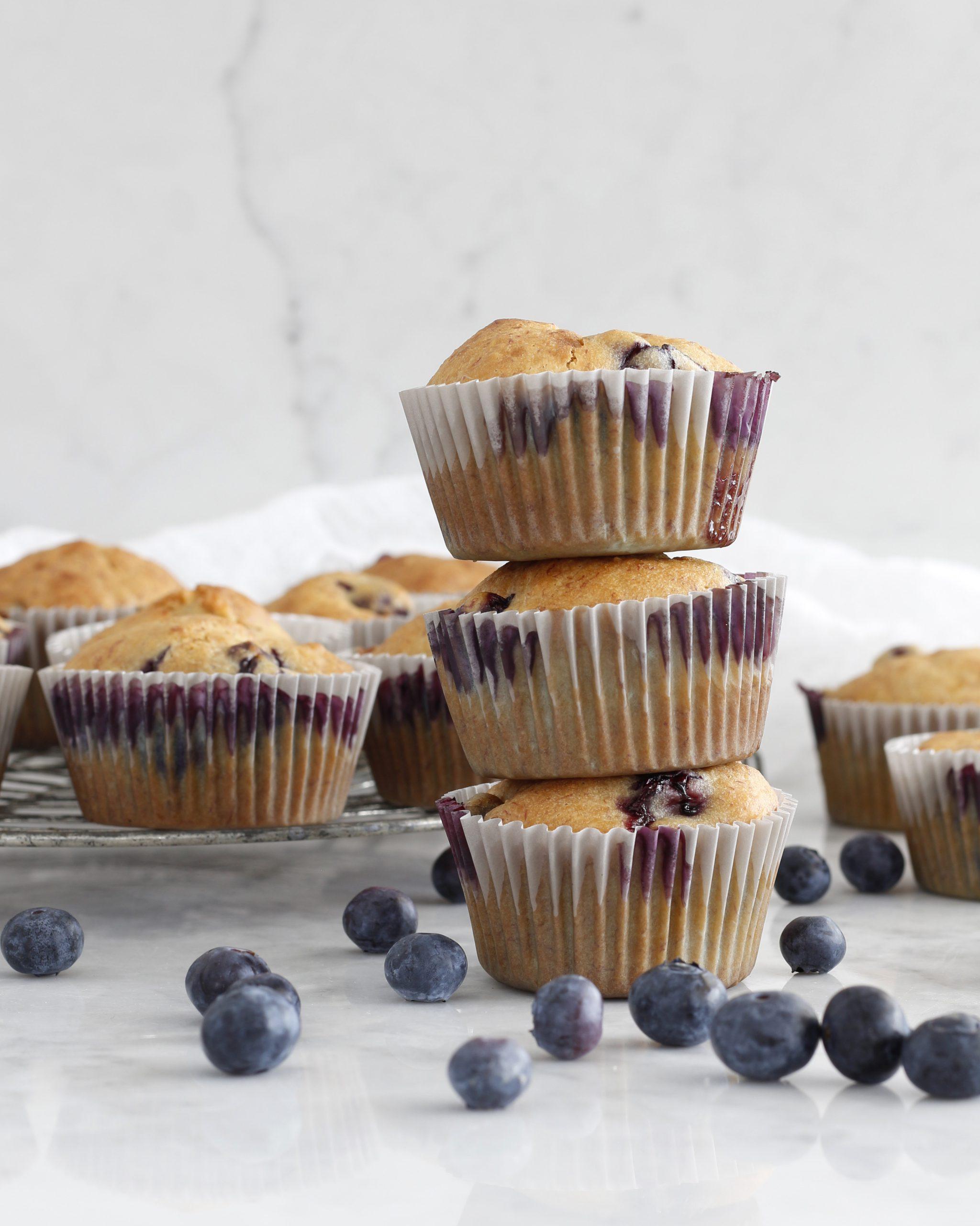 Bláberja og banana muffins