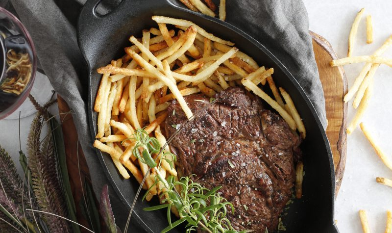 Steik og franskar með trufflu bernaise sósu