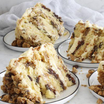 þriggja hæða smákökudeigs kaka