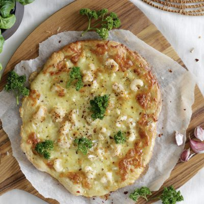 Humarpizza heimabökuð uppskrift