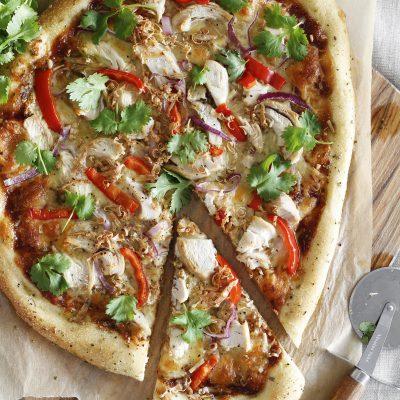 bbq kjúlinga pizza