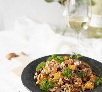 Sætkartöflu quinoa salat