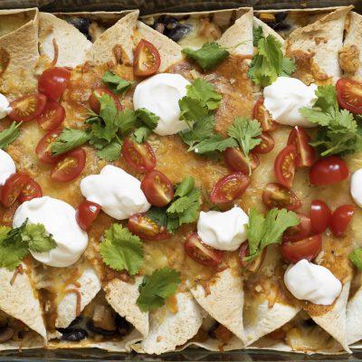 Kjúklinga enchiladas uppskrift