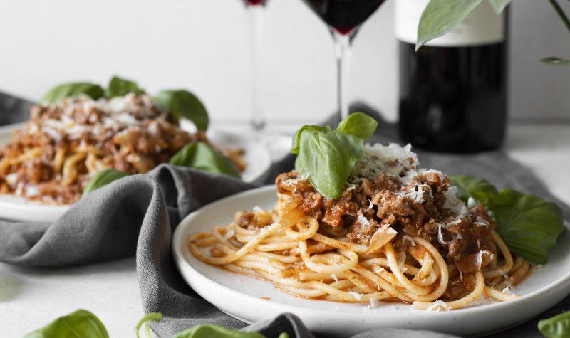 Rauðvíns spagetti bolognese