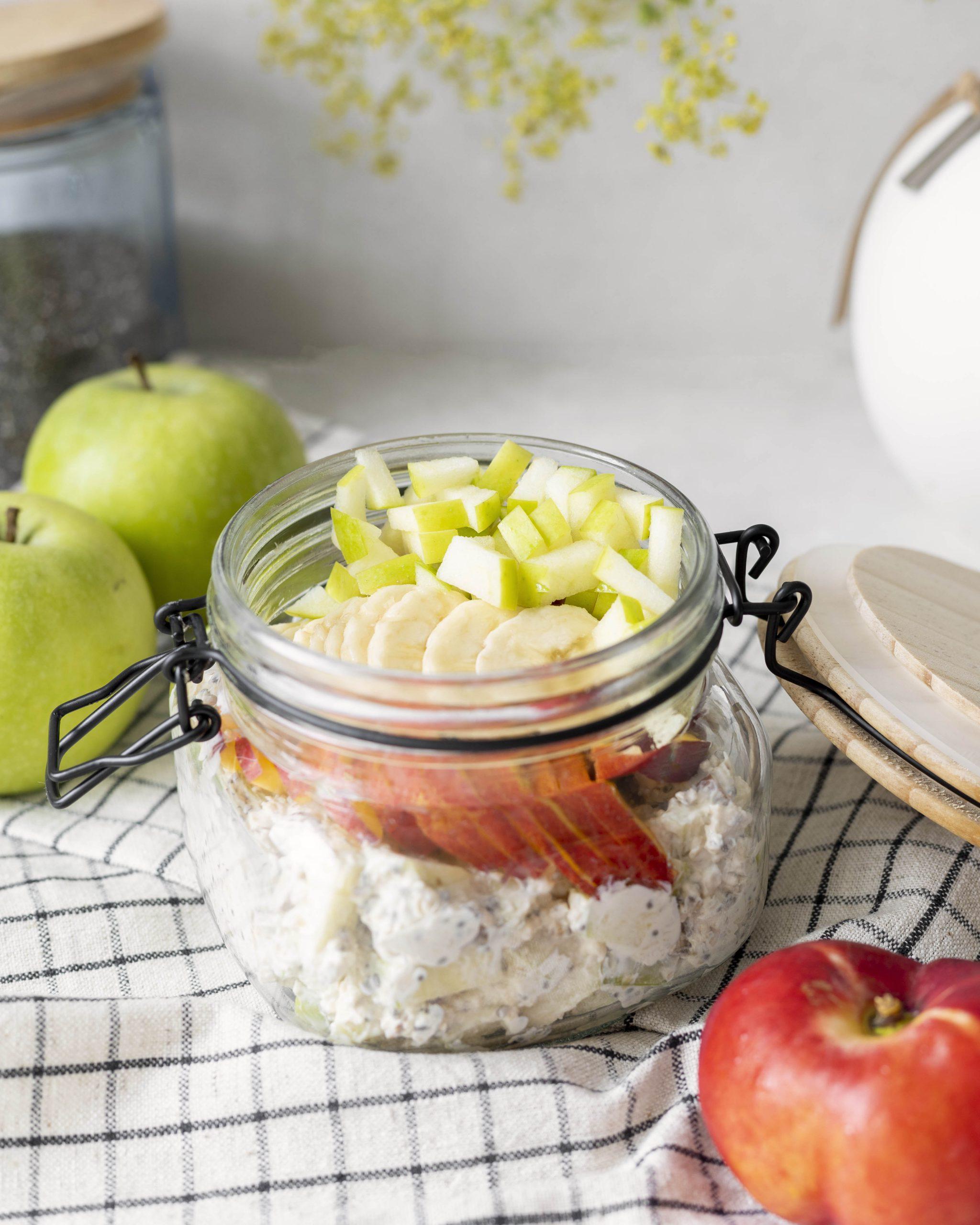 kaldur hafragrautur með grænum eplum